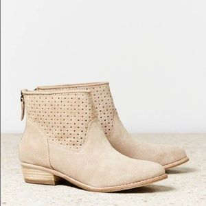 Dolce Vita Maeve Suede Perforated Ankle Booties